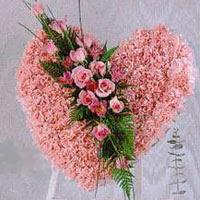 kalp pano karankil ve güller   Kars çiçek yolla , çiçek gönder , çiçekçi