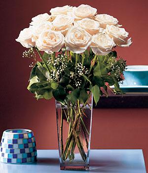 Kars ucuz çiçek gönder  Cam yada mika vazo içerisinde 12 gül