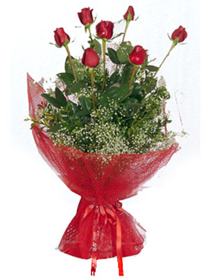 Kars çiçekçi mağazası  7 adet gülden buket görsel sik sadelik
