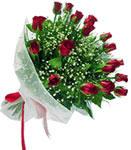 Kars yurtiçi ve yurtdışı çiçek siparişi  11 adet kirmizi gül buketi sade ve hos sevenler