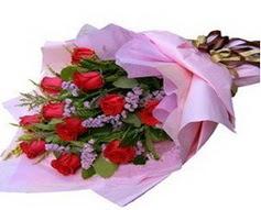 11 adet kirmizi güllerden görsel buket  Kars cicekciler , cicek siparisi