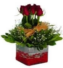 Kars 14 şubat sevgililer günü çiçek  7 adet mika yada cam vazoda gül tanzimi