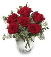 Vazo içerisinde 5 adet kırmızı gül  Kars kaliteli taze ve ucuz çiçekler