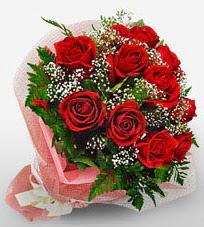 12 adet kırmızı güllerden kaliteli gül  Kars İnternetten çiçek siparişi