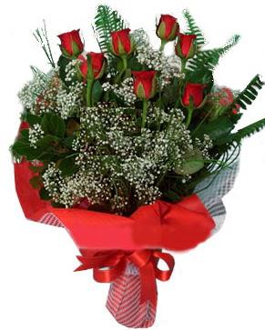 7 kırmızı gül buketi  Kars çiçekçi mağazası