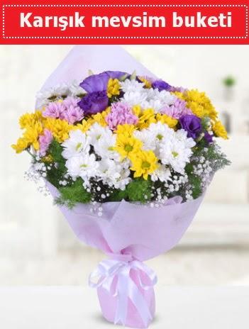 Karışık Kır Çiçeği Buketi  Kars çiçekçiler