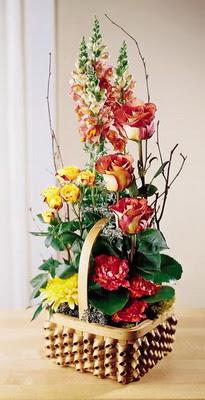 Kars çiçek online çiçek siparişi  aslan agzi gül ve patlardan tanzim