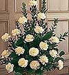 Kars çiçek gönderme  Beyaz karanfillerden sepet