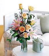 Kars çiçek online çiçek siparişi  cam yada mika vazo içerisinde gül kazablanka