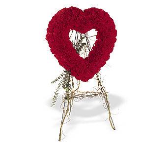 Kars yurtiçi ve yurtdışı çiçek siparişi  karanfillerden kalp pano