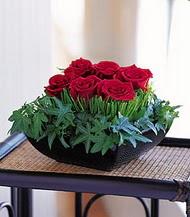 Kars güvenli kaliteli hızlı çiçek  10 adet kare mika yada cam vazoda gül tanzim