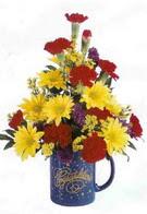 Kars online çiçekçi , çiçek siparişi  seramikte mevsim çiçekleri