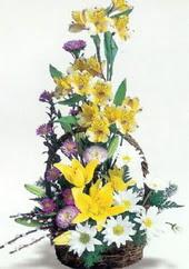 Kars çiçekçi telefonları  Sepette mevsim çiçekleri
