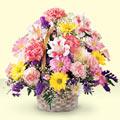 Kars çiçekçi telefonları  sepet içerisinde gül ve mevsim