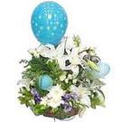 balon ve çiçeklerle tanzim  Kars online çiçekçi , çiçek siparişi