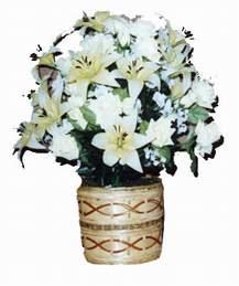 yapay karisik çiçek sepeti   Kars çiçek siparişi sitesi
