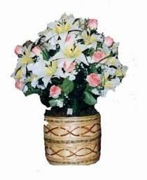 yapay karisik çiçek sepeti   Kars çiçekçi mağazası