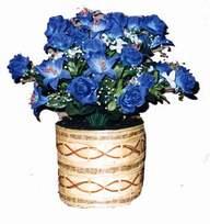 yapay mavi çiçek sepeti  Kars çiçek gönderme