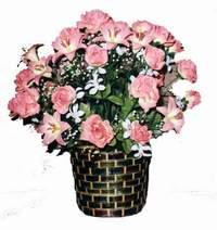 yapay karisik çiçek sepeti  Kars hediye çiçek yolla
