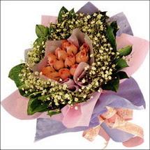 11  adet  gül ve   elyaflar   Kars kaliteli taze ve ucuz çiçekler