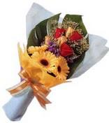 güller ve gerbera çiçekleri   Kars cicekciler , cicek siparisi