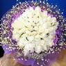 71 adet beyaz gül buketi   Kars çiçek online çiçek siparişi