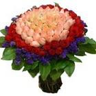 71 adet renkli gül buketi   Kars çiçek servisi , çiçekçi adresleri