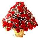 41 adet kirmizi gül sepette   Kars çiçek online çiçek siparişi