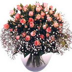 büyük cam fanusta güller   Kars uluslararası çiçek gönderme