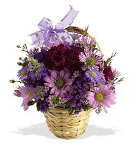 Kars çiçekçi telefonları  sepet içerisinde krizantem çiçekleri
