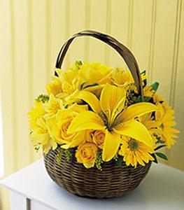 sepet içerisinde sarinin sihri  Kars çiçek gönderme