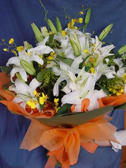 Kars yurtiçi ve yurtdışı çiçek siparişi  5 ADET KAZABLANKA BUKETI KALITEDEN SASMAYANLARA