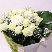 Kars çiçek mağazası , çiçekçi adresleri  11 adet sade beyaz gül buketi