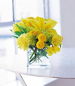 Kars çiçek servisi , çiçekçi adresleri  sarinin sihri cam içinde görsel sade çiçekler