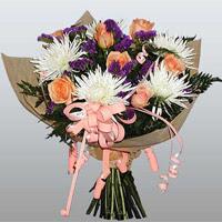 güller ve kir çiçekleri demeti   Kars online çiçekçi , çiçek siparişi