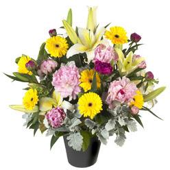 karisik mevsim çiçeklerinden vazo tanzimi  Kars çiçekçi telefonları