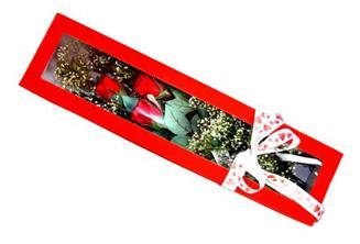 Kars çiçek mağazası , çiçekçi adresleri  Kutuda 3 adet gül