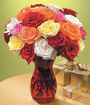 Kars çiçek , çiçekçi , çiçekçilik  13 adet renkli gül