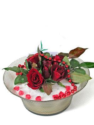 Kars İnternetten çiçek siparişi  EN ÇOK Sevenlere 7 adet kirmizi gül mika yada cam tanzim