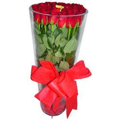 Kars hediye çiçek yolla  12 adet kirmizi gül cam yada mika vazo tanzim