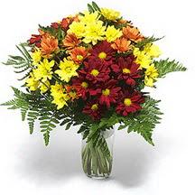 Kars güvenli kaliteli hızlı çiçek  Karisik çiçeklerden mevsim vazosu