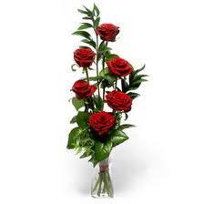 Kars çiçekçi telefonları  mika yada cam vazoda 6 adet essiz gül