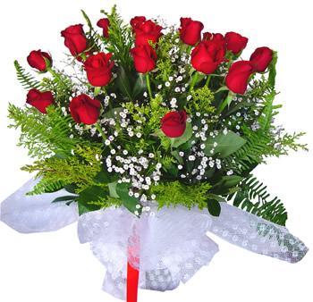 11 adet gösterisli kirmizi gül buketi  Kars yurtiçi ve yurtdışı çiçek siparişi