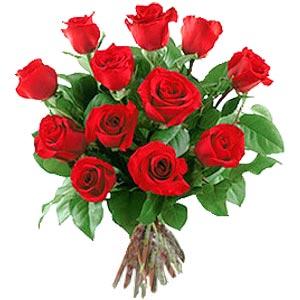 11 adet bakara kirmizi gül buketi  Kars çiçekçiler