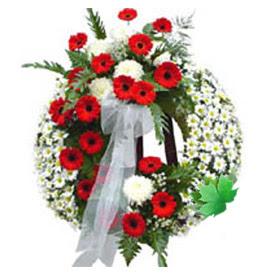 Cenaze çelengi cenaze çiçek modeli  Kars çiçekçi telefonları