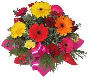 Karisik mevsim çiçeklerinden buket  Kars ucuz çiçek gönder