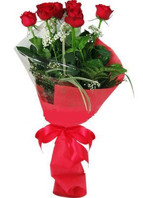 7 adet kirmizi gül buketi  Kars online çiçek gönderme sipariş