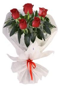 5 adet kirmizi gül buketi  Kars online çiçekçi , çiçek siparişi