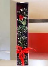 kutu içinde tek kirmizi gül  Kars hediye çiçek yolla