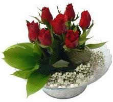 Kars yurtiçi ve yurtdışı çiçek siparişi  cam yada mika içerisinde 5 adet kirmizi gül